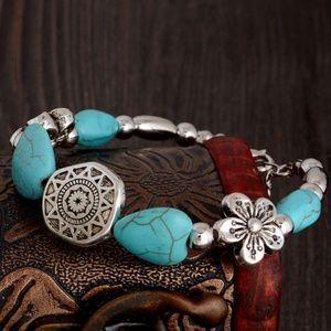 New! Women's Boho Natural Stone Bracelet
